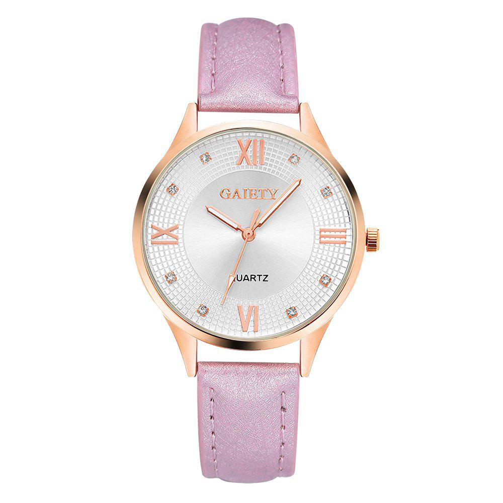 G141 Ladies Fashion Leather Watch - PINK