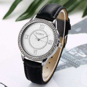 GAIETY G162 Women Fashion Luxury Classic Analog Quartz Wrist Watch Lady - BLACK