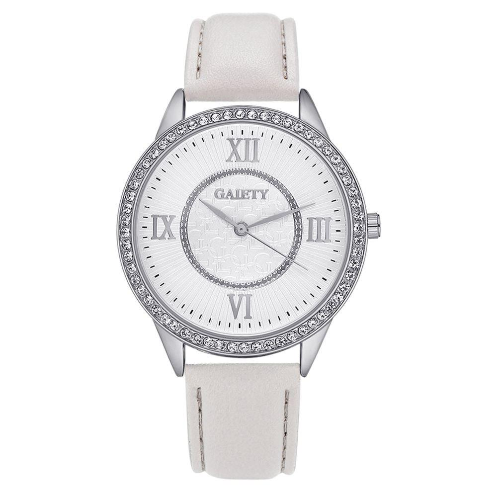 GAIETY G162 Women Fashion Luxury Classic Analog Quartz Wrist Watch Lady - GREY