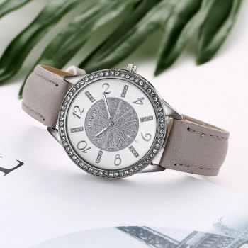 GAIETY G163 Women Fashion Luxury Classic Leather Wrist Watch Lady - GREY