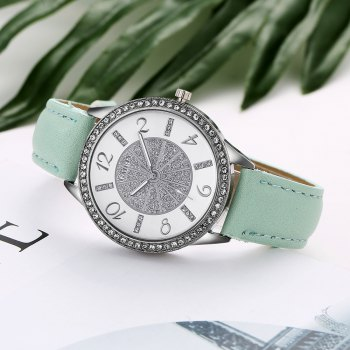 GAIETY G163 Women Fashion Luxury Classic Leather Wrist Watch Lady - SKY BLUE