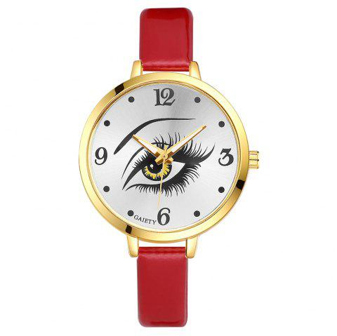 GAIETY G176 Women Fashion Luxury Classic Casual Watches Female Lady Watch - RED
