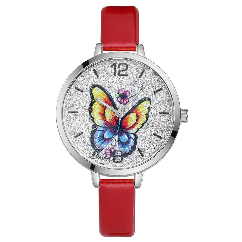 GAIETY G184 Women Fashion Luxury Classic Casual Watches Female Lady Watch - RED