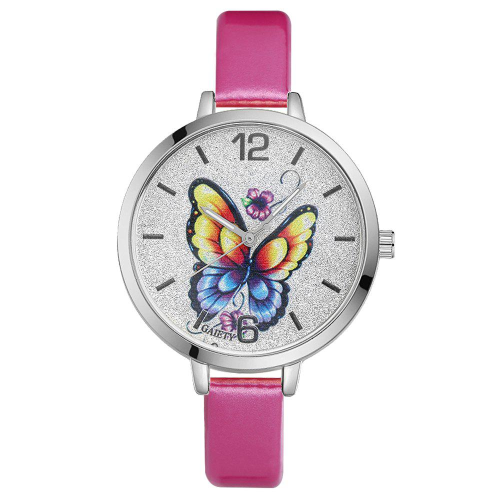 GAIETY G184 Women Fashion Luxury Classic Casual Watches Female Lady Watch - ROSE RED