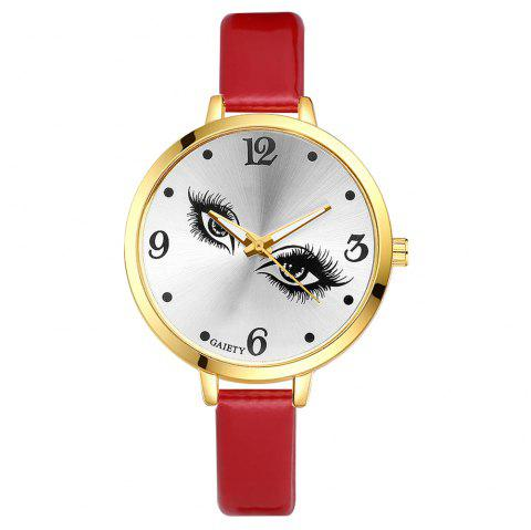 GAIETY G185 Women Fashion Luxury Classic Casual Watches Female Lady Watch - RED