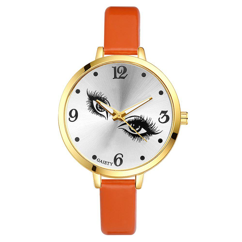 GAIETY G185 Women Fashion Luxury Classic Casual Watches Female Lady Watch - ORANGE