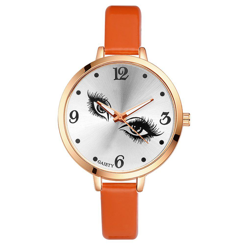 GAIETY G186 Women Fashion Luxury Classic Casual Watches Female Lady Watch - ORANGE