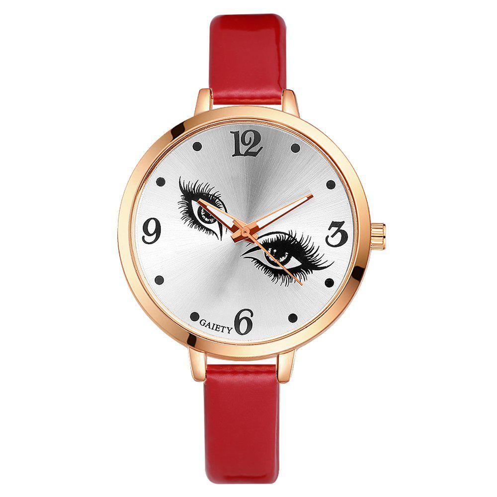 GAIETY G186 Women Fashion Luxury Classic Casual Watches Female Lady Watch - RED