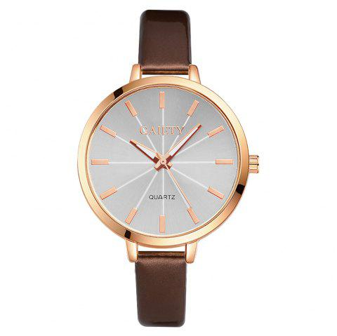 GAIETY G189 Women Fashion Luxury Classic Casual Watches Female Lady Watch - BROWN