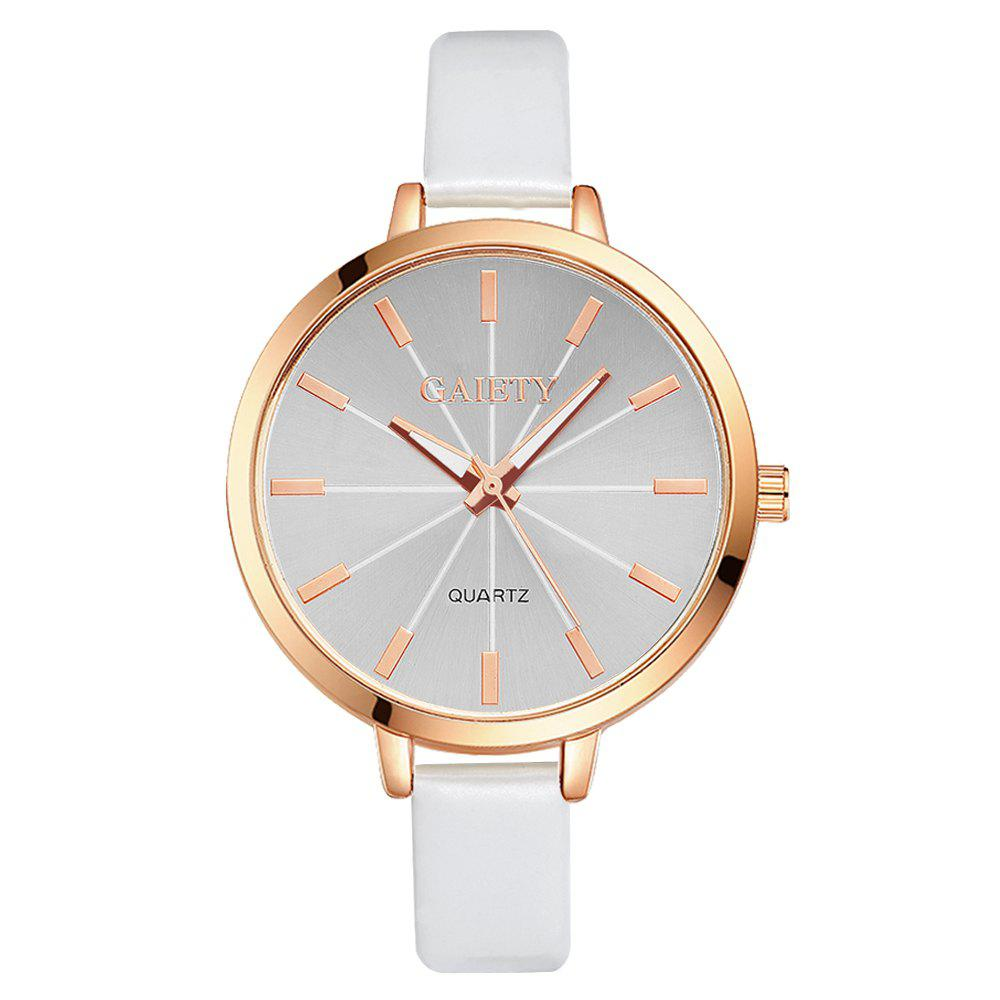 GAIETY G189 Women Fashion Luxury Classic Casual Watches Female Lady Watch - WHITE