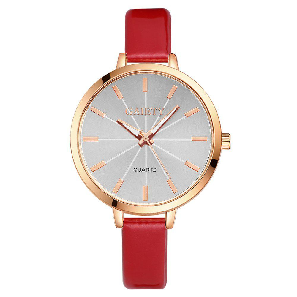 GAIETY G189 Women Fashion Luxury Classic Casual Watches Female Lady Watch - RED