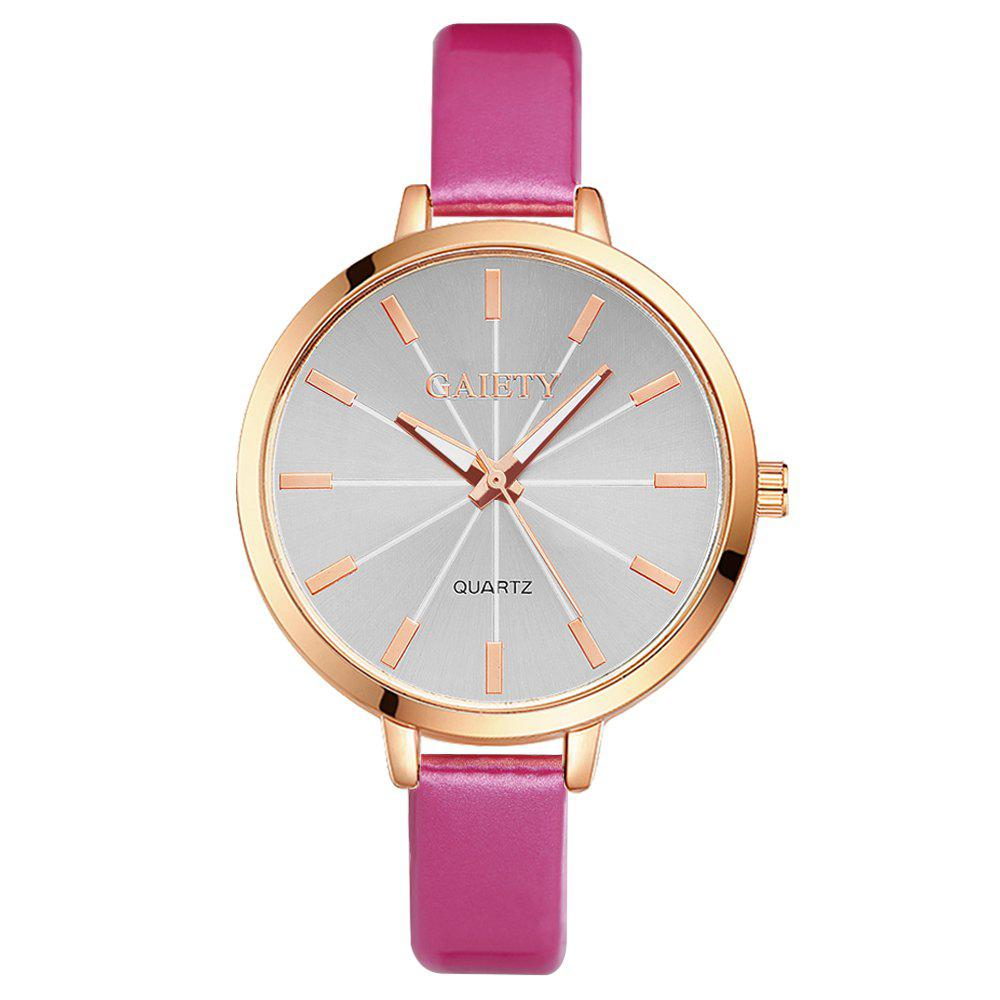 GAIETY G189 Women Fashion Luxury Classic Casual Watches Female Lady Watch - ROSE RED