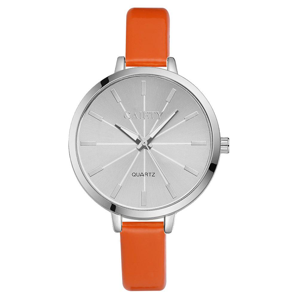 GAIETY G190 Women Fashion Luxury Classic Casual Watches Female Lady Watch - ORANGE