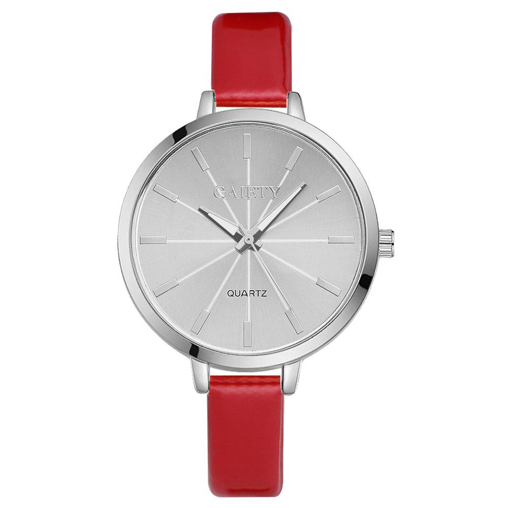 GAIETY G190 Women Fashion Luxury Classic Casual Watches Female Lady Watch - RED