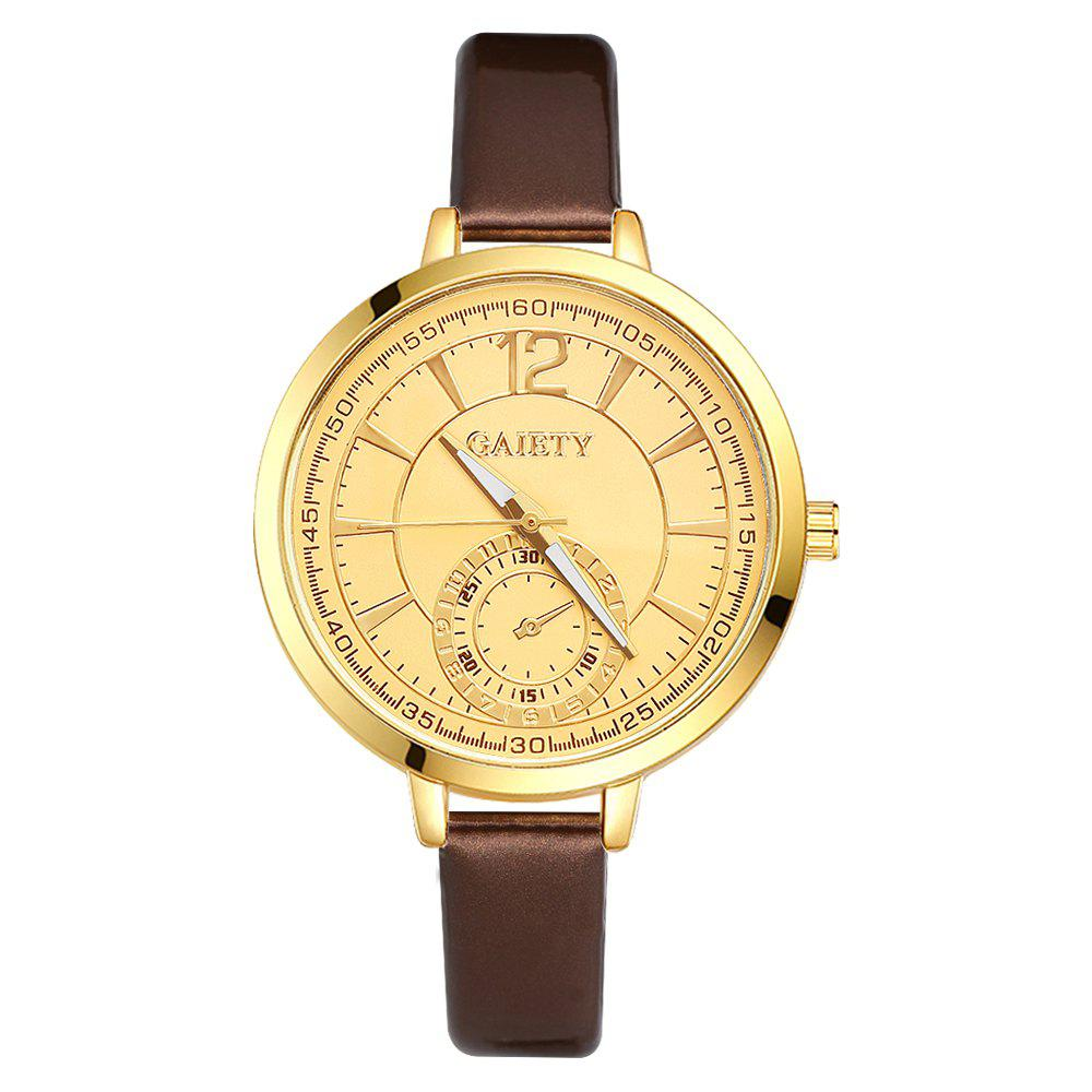GAIETY G191 Women Fashion Luxury Classic Casual Watches Female Lady Watch - BROWN
