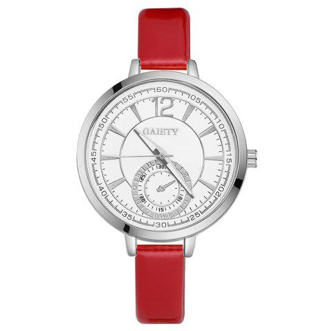 GAIETY G193 Women Fashion Luxury Classic Casual Watches Female Lady Watch - RED