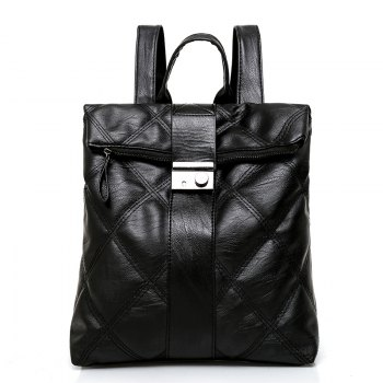 Fashionable Wild Shoulder Bag  Personality Soft Leather