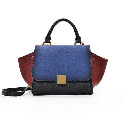Wild Shoulder Messenger Bag Hit Color Handbag - BLUE
