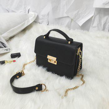Fashion Ladies Handbag Handbag Messenger Cross Chain Mini Small Square Bag - BLACK