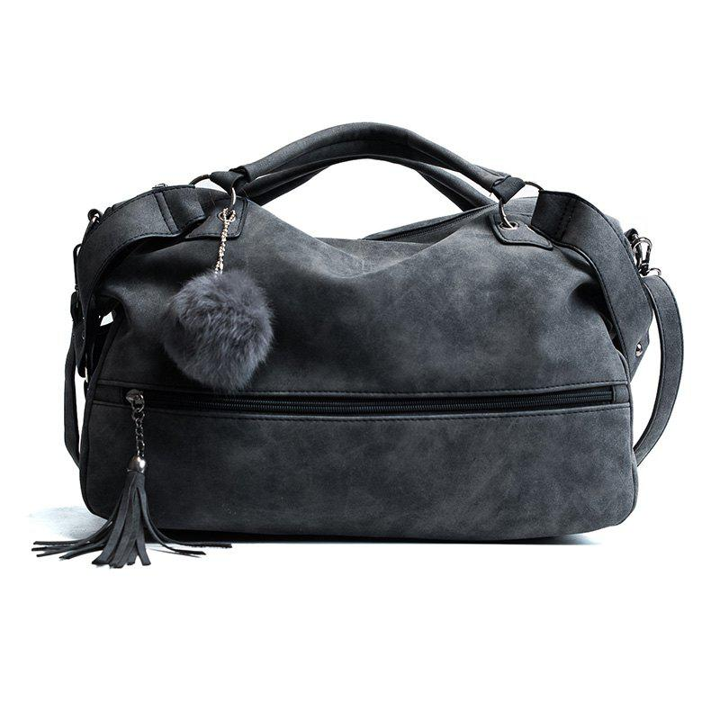 Wild Handbag Large Capacity Casual Shoulder Messenger Bag - BLACK