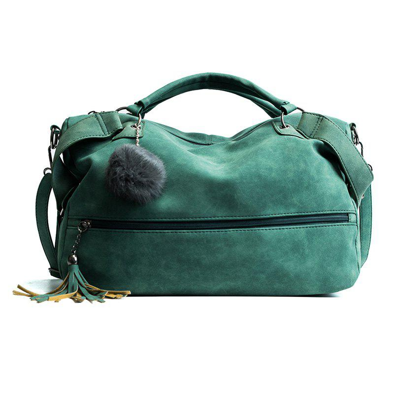 Wild Handbag Large Capacity Casual Shoulder Messenger Bag - GREEN