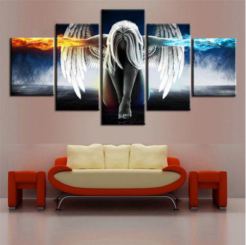 5PCS Printed Angel Wings Painting Canvas Print Room Decor - COLOUR