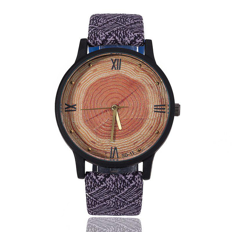 где купить REEBONZ Fashionable Wood Grain Quartz Watch Student Couple Wristwatches по лучшей цене
