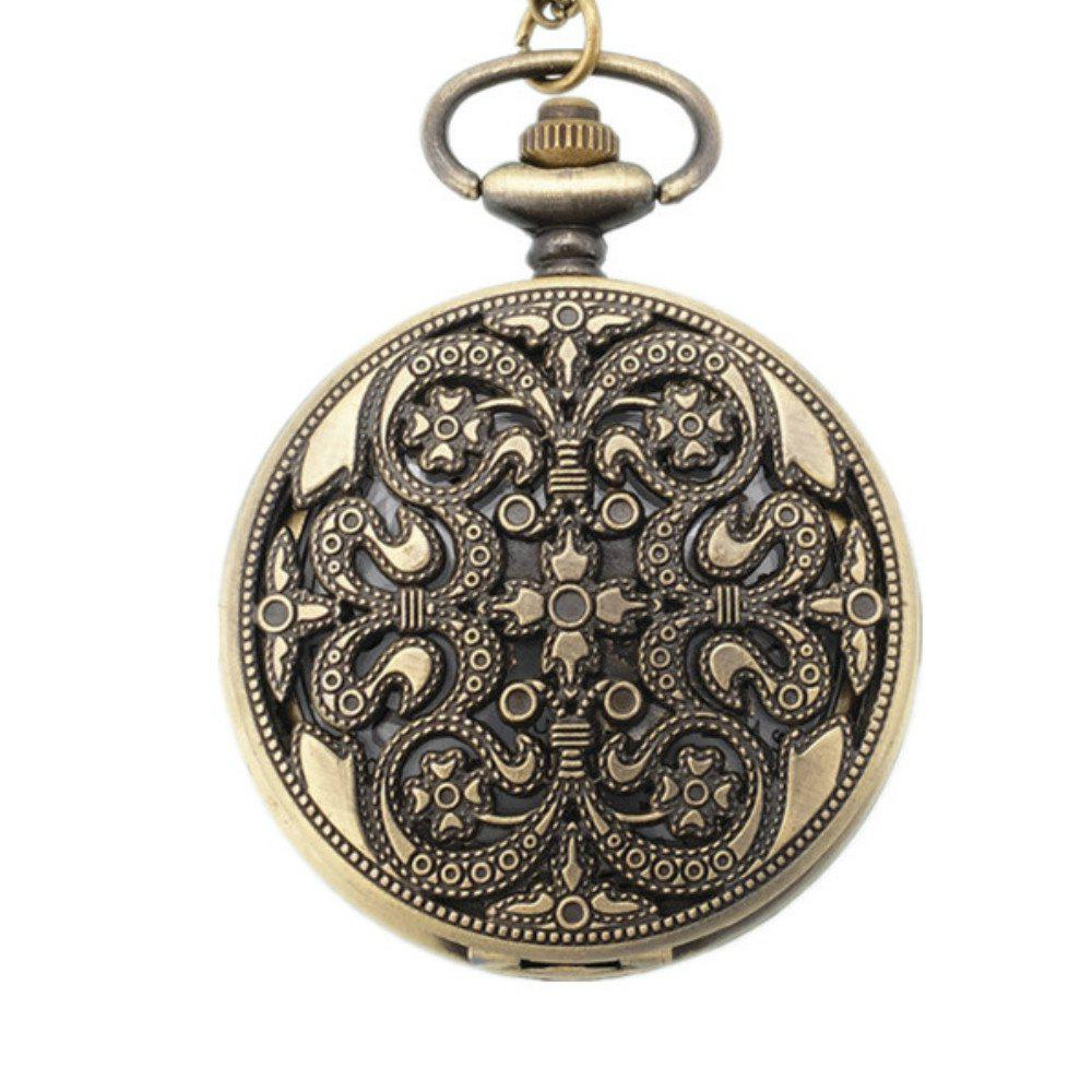 REEBONZ Steampunk Vintage Flower Quartz Pocket Watch Necklace Pendant46 4 design bronze vintage quartz pocket watch free mason sword art online gear necklace pendant chain womens mens gifts p1123