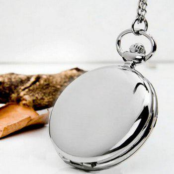 REEBONZ Steampunk Fashion Mirror Quartz Pocket Watch Necklace Pendant - SILVER