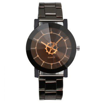 REEBONZ Vintage Gun Black Gear Quartz Man Watch - BLACK BLACK