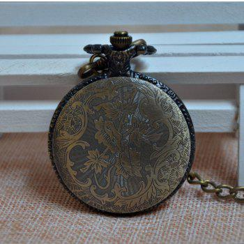 REEBONZ Vintage Butterfly Quartz Pocket Watch Necklace Pendant - COPPER COLOR