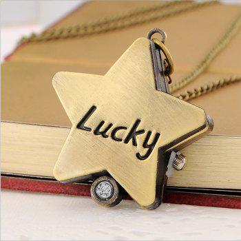REEBONZ Vintage Lucky Star Quartz Pocket Watch Necklace Pendant -  COPPER COLOR