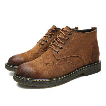 Four Seasons Pigskin Rubber Bottom Bullock Style Men'S Casual Leather Shoes930 - BROWN 40