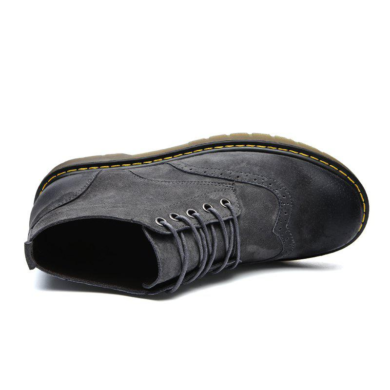 Four Seasons Pigskin Rubber Bottom Bullock Style Men'S Casual Leather Shoes930 - GRAY 40