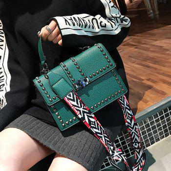 Small Rivet Bag Shoulder Messenger Bag Handbag - GREEN