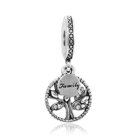 Christmas Ornament Family Tree Wisdom Tree Alloy Diamond Pendant - SILVER