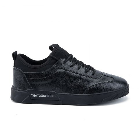 New Lightweight Solid Color Fashion Shoes - BLACK 44