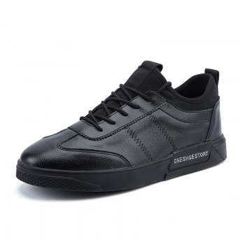 New Lightweight Solid Color Fashion Shoes - BLACK BLACK