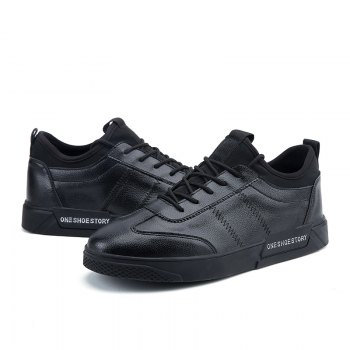 New Lightweight Solid Color Fashion Shoes - BLACK 42