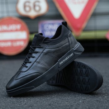 New Lightweight Solid Color Fashion Shoes - BLACK 40