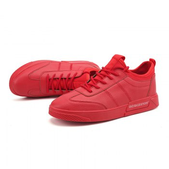 New Lightweight Solid Color Fashion Shoes - RED 44