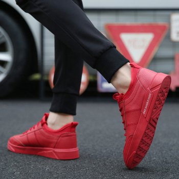 New Lightweight Solid Color Fashion Shoes - RED RED