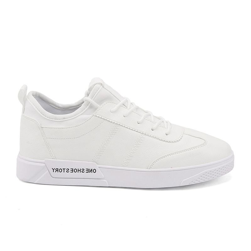 New Lightweight Solid Color Fashion Shoes - WHITE 44