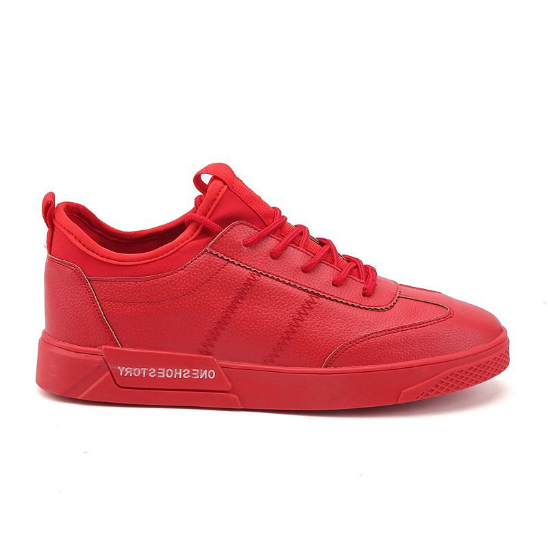 New Lightweight Solid Color Fashion Shoes - RED 43