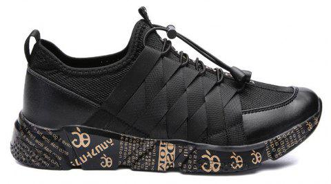 New Personality Lightweight Line Tidal Casual Shoes - BLACK GOLD 43