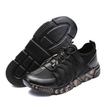 New Personality Lightweight Line Tidal Shoes - BLACK GOLD 43
