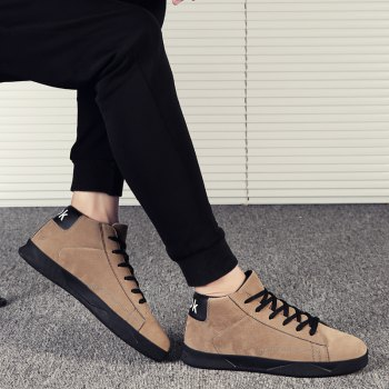 New High-Top Lightweight Shoes - KHAKI 39