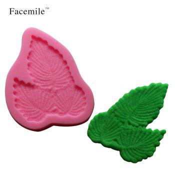 3D Leaf Shape Silicone Fondant Mold Silicone Baking Forms Soap Mold Sugarcraft Gift Decoration Tools - PINK