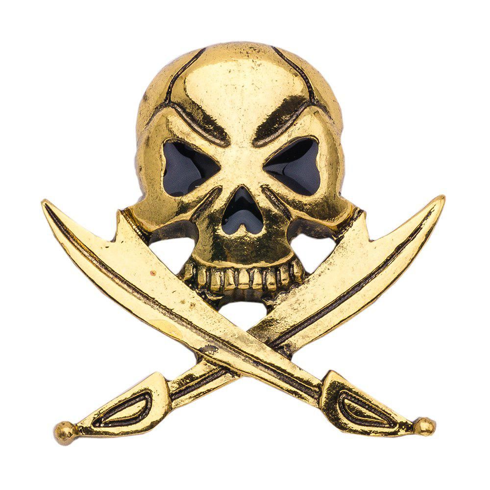 Vintage Skeleton Pirates Skull Brooches For Women & Men Dress Scarf Accessories Jewelry Antique Gold Brooch Pins airsoft adults cs field game skeleton warrior skull paintball mask