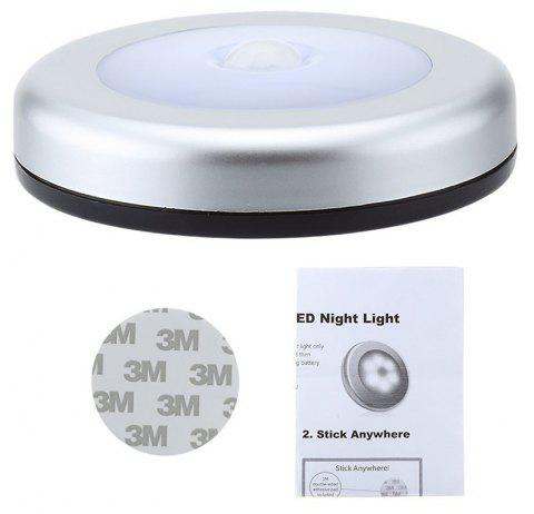 PIR Motion Sensor Light Motion-sensing Battery Powered LED Stick Anywhere Wall Light for Entrance Hallway - COLD WHITE
